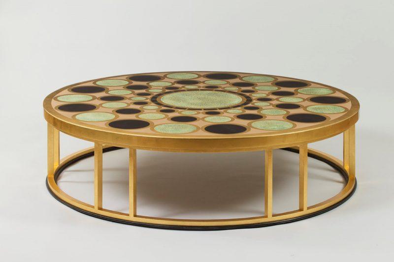 byzance table basse acier forge dore et laque precieuse M192 800x533 30 Incroyable Table Basse Acier Brossé Iqt4